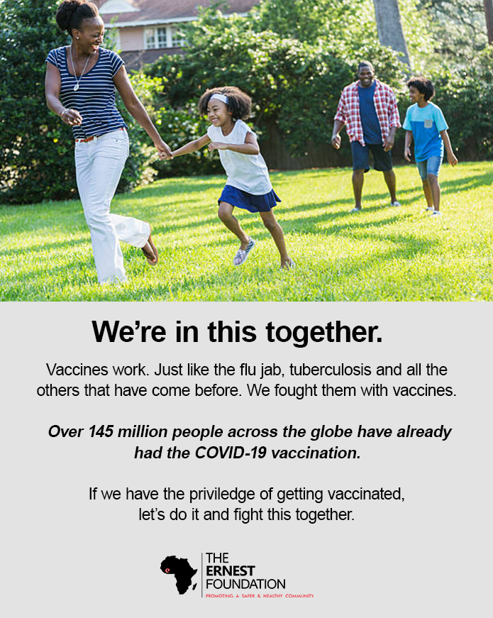 The Ernest Foundation supports Covid19 vaccination